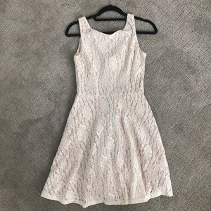Macy's Lace Fit and Flare Dress